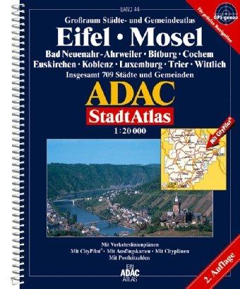 9783826411380: ADAC Stadtatlas Großraum Eifel / Mosel 1 : 20 000