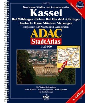 9783826412066: ADAC StadtAtlas Kassel 1 : 20 000: Bad Wildungen, Bebra, Bad Hersfeld, Eschwege, Göttingen, Korbach, Hann.Münden, Melsungen. Grossraum Städte- und 123 Städte und Gemeinden. 1:20000. GPS-genau