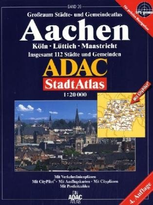 9783826413636: ADAC StadtAtlas Aachen 1 : 20 000: Köln - Lüttich - Maastricht. Insgesamt 113 Städte und Gemeinden