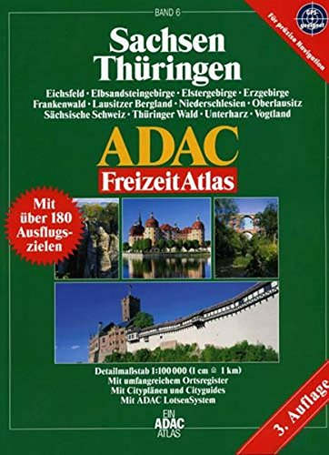 9783826413858: Thüringen, Sachsen ADAC FreizeitAtlas 1 : 100 000.