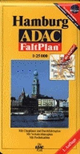 9783826413957: Gro�er ADAC FaltPlan Hamburg 1 : 25 000: Mit Citypl�nen und Durchfahrtsplan. Mit Verkehrslinienplan. Mit Postleitzahlen