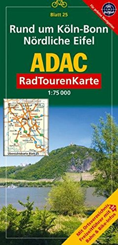 9783826415432: ADAC RadTourenKarte 25. Nord Eifel, Rund um Köln. 1 : 75 000: Mit Ortsverzeichnis, Freizeitführer mit Bahn & Bike-Infos
