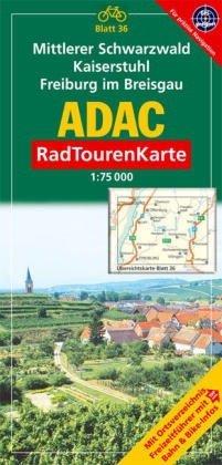 9783826415500: ADAC RadTourenKarte 36. Mittlerer Schwarzwald, Kaiserstuhl, Freiburg im Breisgau. 1 : 75 000