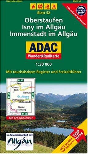 9783826417320: ADAC Wander- & RadKarte 52 Immenstadt 1 : 30 000