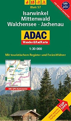 9783826417375: ADAC Wander- & RadKarte 57 Mittenwald 1 : 30 000: Alpen / Voralpen. GPS-genau. Mit touristischem Register und Freizeitführer