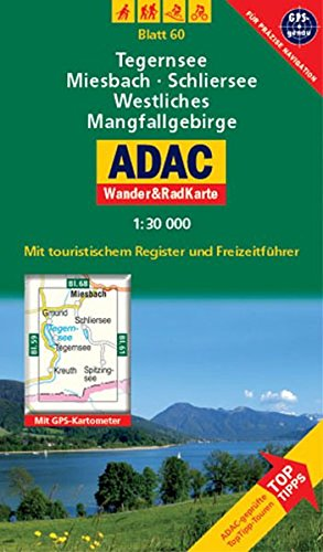 9783826417405: ADAC Wander- & RadKarte 60 Tegernsee 1 : 30 000: Deutsche Alpen / Alpenvorland. Mit touristischem Register und Freizeitführer