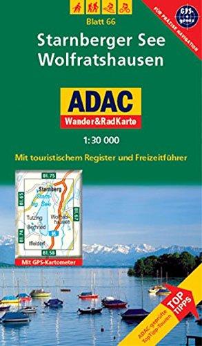 9783826417467: ADAC Wander- & RadKarte 66 Starnberger See 1 : 30 000: Deutsche Alpen / Alpenvorland. Mit touristischem Register und Freizeitführer