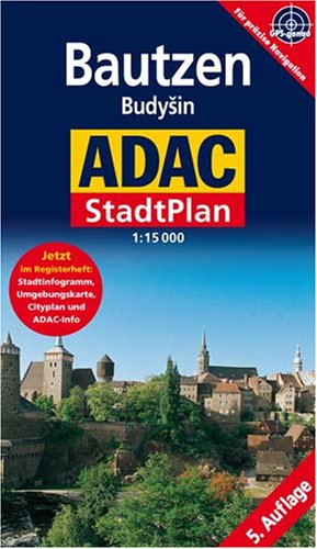 9783826419171: Bautzen (Budysyn, East Germany) 1:15,000 Pocket Street Map ADAC