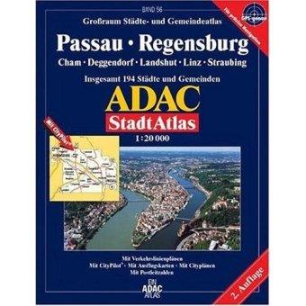 9783826419454: ADAC StadtAtlas Passau, Regensburg 1:20.000 Cham, Deggendorf, Landshut, Linz, Straubing: Cham, Deggendorf, Landshut, Linz, Straubing. Grossraum ... 194 Städte und Gemeinden. 1:20000. GPS-genau