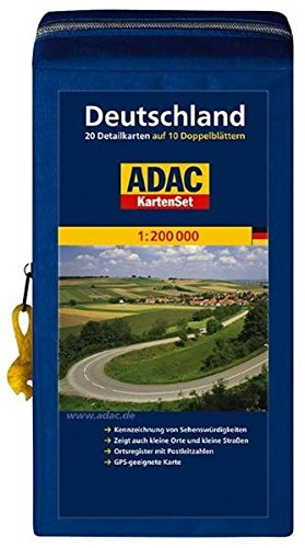 9783826460302: ADAC Stra�enKarte Deutschland in Kartentasche: Blatt 1-20 auf 10 Doppelbl�ttern
