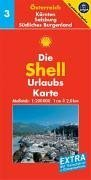 9783826461217: Shell Urlaubskarte Österreich 3. Kärnten, Salzburg, Südliches Burgenland. 1 : 200 000: Mit Ortsverzeichnis und Reiseführer