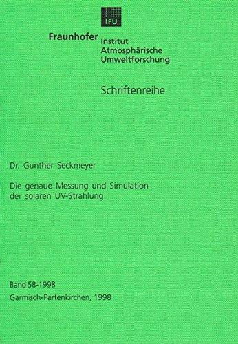 9783826541766: Die genaue Messung und Simulation der solaren UV-Strahlung