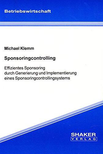 Sponsoringcontrolling: Michael Klemm