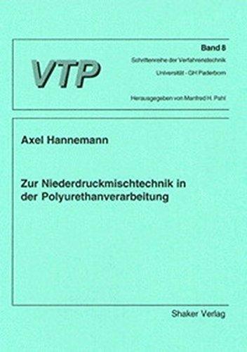 9783826571862: Zur Niederdruckmischtechnik in der Polyurethanverarbeitung