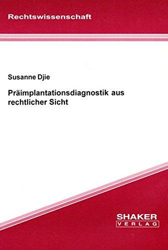 9783826585708: Präimplantationsdiagnostik aus rechtlicher Sicht