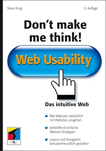 9783826615955: Don't make me think!: Web Usability. Das intuitive Web