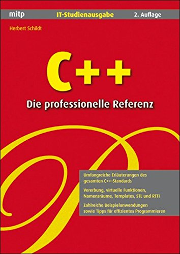 9783826617737: C++ - Die professionelle Referenz. IT-Studienausgabe