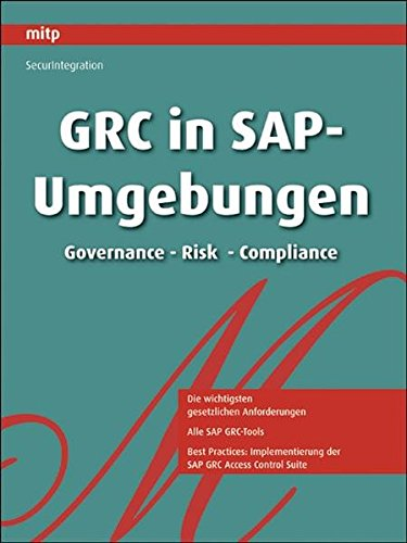 9783826659546: GRC in SAP-Umgebungen: Governance - Risk - Compliance