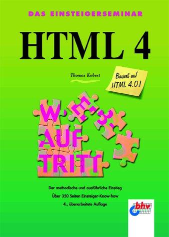 9783826671500: Das Einsteigerseminar HTML 4