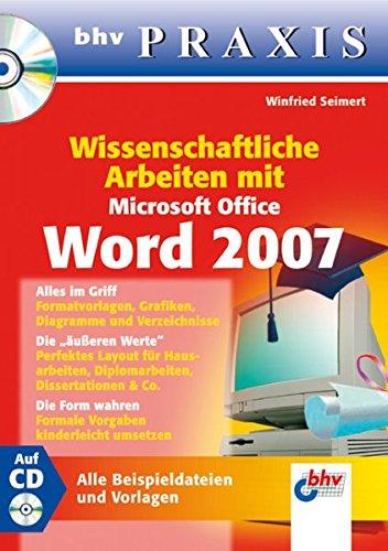9783826674280: Wissenschaftliche Arbeiten mit Microsoft Office Word 2007