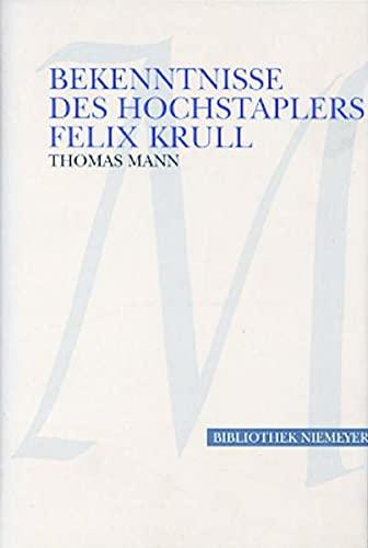 9783827130013: Bekenntnisse des Hochstaplers Felix Krull. Großdruck: Der Memoiren erster Teil (Bibliothek Niemeyer)