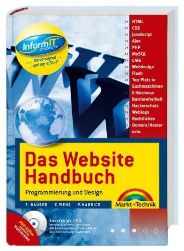 9783827240132: Das Website Handbuch. Programmierung und Design