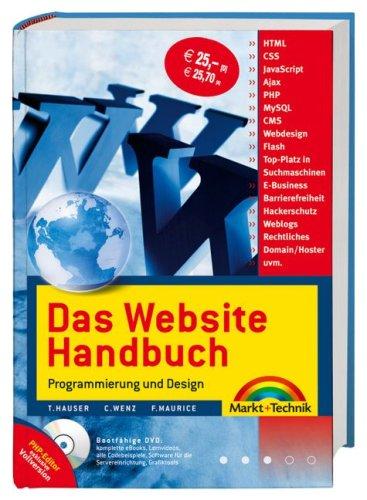 9783827242426: Das Website Handbuch. Programmierung und Design