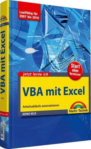 9783827245366: Jetzt lerne ich VBA mit Excel: Arbeitsabläufe automatisieren