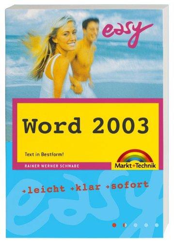 9783827267405: Easy Taschenbuch Word 2003.