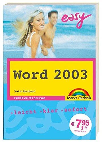 9783827269294: Word 2003 easy zum Mitnehmen