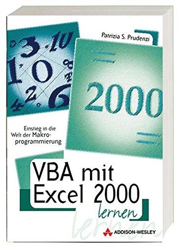 VBA mit Excel 2000 lernen . Einstieg: Prudenzi, Patrizia S