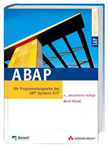 9783827319609: ABAP . Die Programmiersprache des SAP-Systems R/3 (Sonstige Bücher AW)