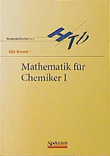 9783827400666: Mathematik für Chemiker I.
