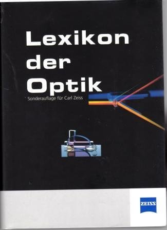 9783827403827: Lexikon Der Optik Band 1
