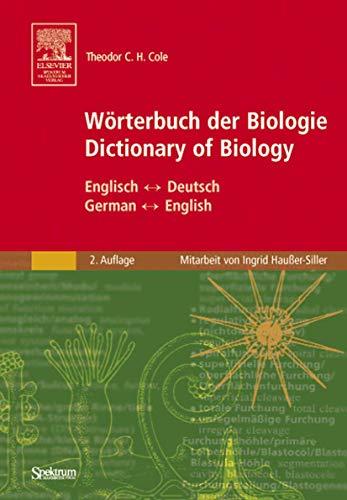 9783827416285: Wörterbuch der Biologie/Dictionary of Biology: Englisch-Deutsch German-English (German Edition)