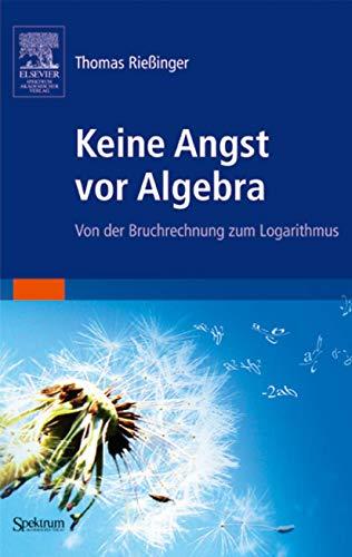 9783827417794: Keine Angst vor Algebra: Von der Bruchrechnung zum Logarithmus (Sav Mathematik)