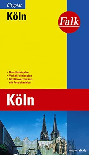 9783827901095: Falk Cityplan Köln 1 : 23 000: Mit Durchfahrtsplan und Verkehrslinienplan. Straßenverzeichnis mit Postleitzahlen