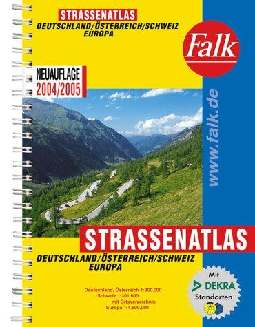 9783827903808: Falk StraÃ?enatlas Deutschland, Ã?sterreich, Schweiz, Europa 2004/2005