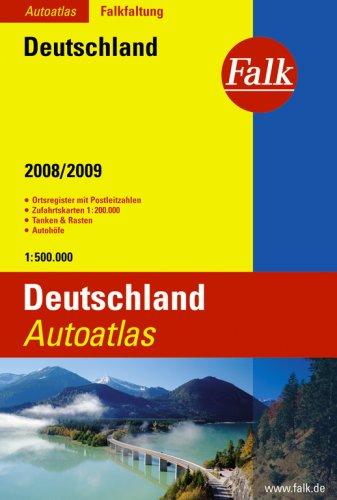 9783827904300: Falk Autoatlas Deutschland 2008/2009;