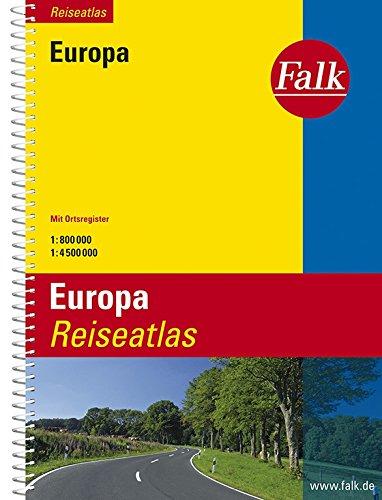 Falk Reiseatlas Europa 1 : 800 000 / 1: 4 500 000: Mit Ortsregister