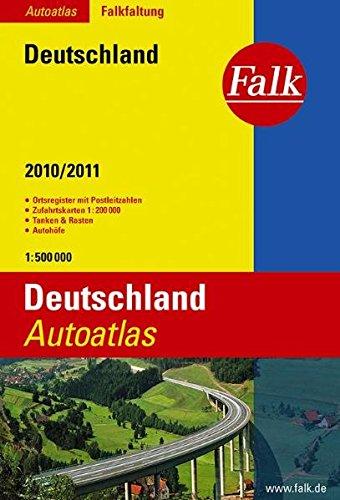 9783827904379: Falk Autoatlas Falkfaltung Deutschland 2009/2010: mit Postleitzahlen