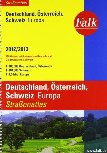 9783827904423: Falk Stra�enatlas Deutschland/�sterreich/Schweiz/Europe 2012/2013