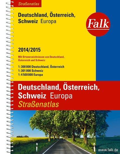 Falk Straßenatlas Deutschland, Österreich, Schweiz, Europa 2014/2015 - Imported by Yulo inc.