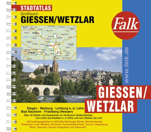 9783827904928: Falk Städteatlas Gießen, Wetzlar 1 : 20 000.
