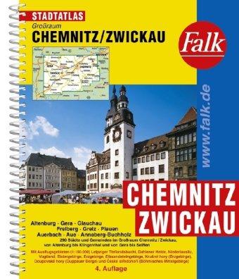 9783827905260: Falk Stadtatlas Großraum Chemnitz-Zwickau