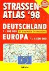 Strassen-atlas '98: Deutschland 1:300 000 mit erweitertem Ortsverzeichnis Europa 1:4 500 000 (...