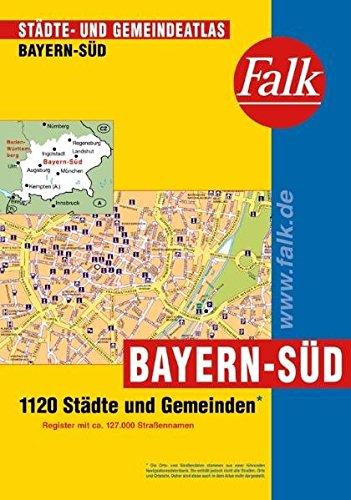 9783827906182: Falk Staedte- und Gemeindeatlas Bayern-Sued