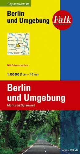 9783827918062: Falk Regionalkarte 06. Berlin und Umgebung. 1 : 150 000