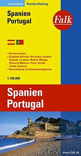 9783827918468: Carte routière Falk : Espagne - Portugal