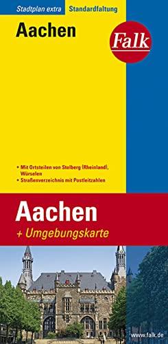9783827921543: Falk Stadtplan Extra Standardfaltung Aachen 1:19 500: Mit Ortsteilen von Stolberg (Rheinland), Würselen. Straßenverzeichnis mit Postleitzahlen. Standardfaltung